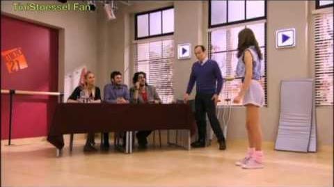 Violetta Saison 1 - Audition de danse de Violetta pour entrer au studio.