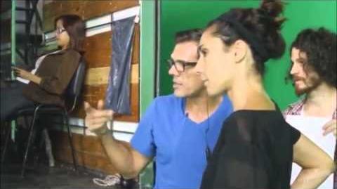 Backstage du tournage du générique de Violetta.