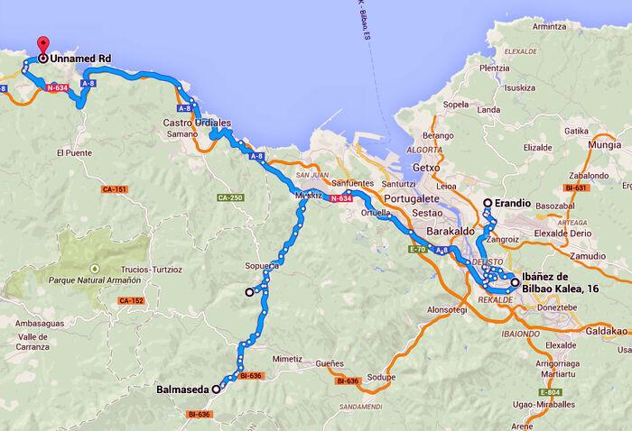 Asua itinerario