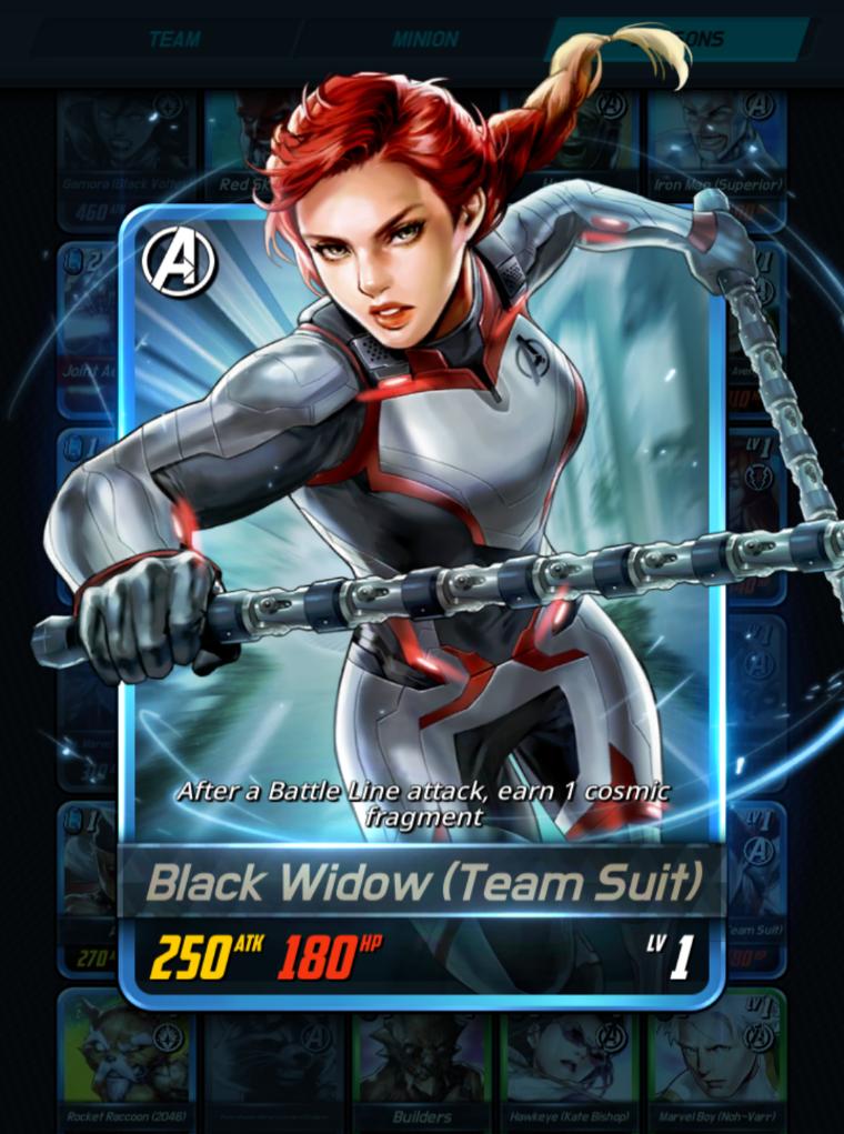 Black Widow Team Suit Marvel Battle Lines Wiki Fandom