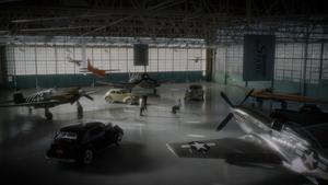 Ext of Howard in hangar
