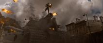 Cap jumps over tank