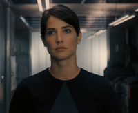 Maria Hill in civvies