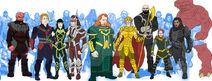 Kro, Ikaris, Sersi, Makkari, Zuras, Thena, Gilgamesh, Sprite, Ransak, and Karkus (MCU redesign) by needhamcomics