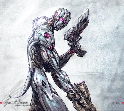 Armored-cyborg