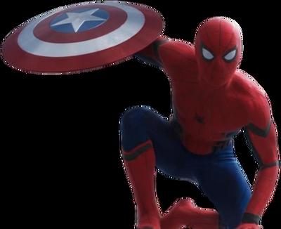 Civil war spider man transparent background by camo flauge-d9ur7he