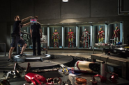 Iron Man 3 on-set suits