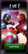 Quickmatch Captain America (WWII) vs Iron Man tile