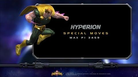 Hyperion Special Moves Marvel Contest of Champions