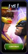 Quickmatch Cyclops (Blue Team) vs Wolverine tile