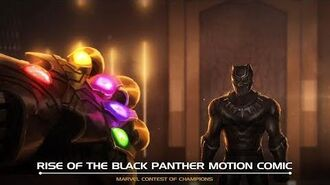 Rise of the Black Panther Motion Comic Marvel Contest of Champions