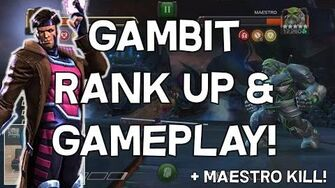 Gambit Rank Up And Gameplay! - Maestro Takedown - Marvel Contest Of Champions