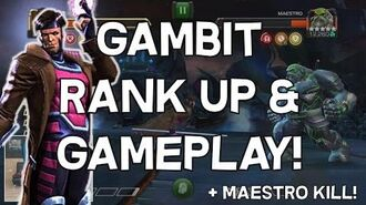 Gambit Rank Up And Gameplay! - Maestro Takedown - Marvel Contest Of Champions-0