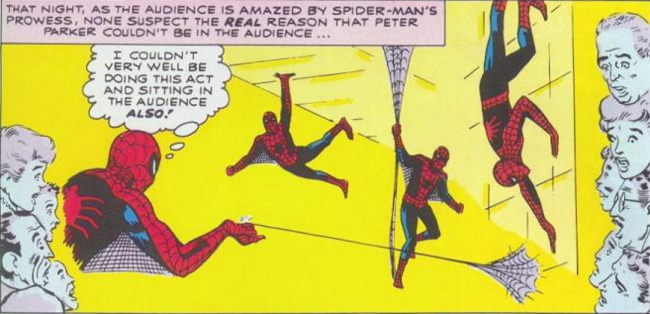 Выступление Человека-паука