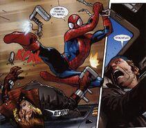 USM 112 Spider-Man is hitting Shoker