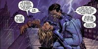 Ben Grimm is finding Rid Richards and Sue Storm on the Baxter-Bilding roof Ultimatum