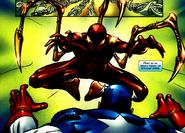 Iron Spider atacnado a el Capitan America