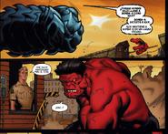 A-Bomb Golpeando a Red Hulk