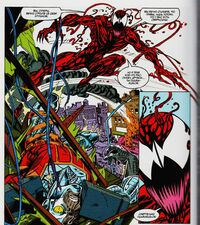 Deathlok defeated by Carnage