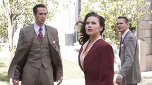Margaret Carter (Earth-199999), Edwin Jarvis (Earth-199999), and Jack Thompson (Earth-199999) from Marvel's Agent Carter Season 2 10 001