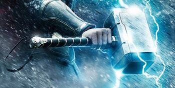 Mjolnir from Thor The Dark World Poster 0001