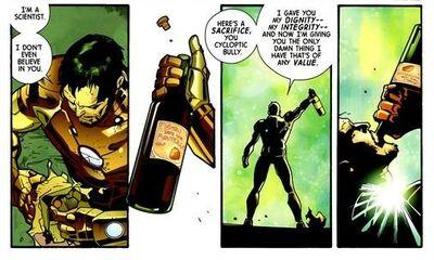Stark sombrant à nouveau dans l'alcoolisme