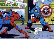 Spider-Man contra el Capitán América