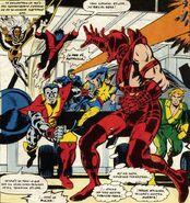 Eric El Rojo (Tierra-616) vs X-Men (Tierra-616)