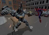 Rhino vs Spider-Man videogame USM