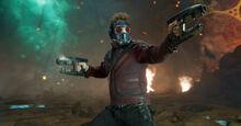 Квилл во время битвы с Эго - Стражи галактики 2