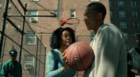 Luke Cage 1 2 Misty Knight on the basketball cort