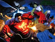 Hulk Rojo Vs Las Lady Liberators