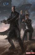 Nick Fury, Maria Hill y Agente Coulson