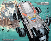 S.H.I.E.L.D. Helicarrier above Utopia