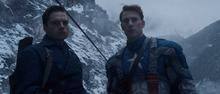 Барнс и Роджерс готовятся к миссии - Первый мститель