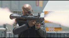 Фьюри стреляет в самолет - Мстители фильм