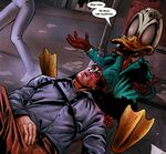 Howard Duckson (Earth-2149) and Ashley Williams (Earth-2149) from Marvel Zombies Army of Darkness Vol 1 2 0001