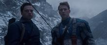 Баки и Кэп на горе - Первый мститель