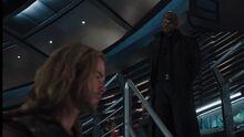 Фьюри разговаривает с Тором о Локи - Мстители фильм
