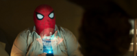 Ned in Spider-Man's mask
