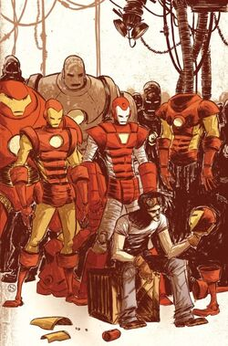 Anthony Stark y Todas sus Armaduras