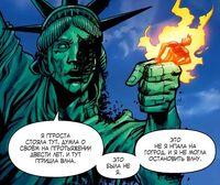 Ultimatum FF Requiem Johnny Storm in Statue Liberty's hand
