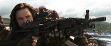 Барнс стреляет во Всадников - Война бесконечности