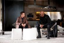 Старк и Фьюри обсуждают состояние Тони - Железный человек 2