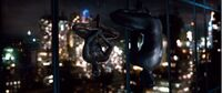 Black Spider-Man in centre of New-York at night Earth-96283
