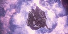 Грут спасает Ракету в время взрыва - Стражи галактики