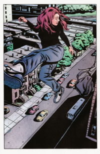 Alias Vol 1 23 Jessica Jones (Tierra-616) volando