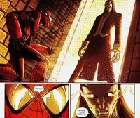 Edge of Spider-Verse 3 Aaron Aikman face to face with Morlun