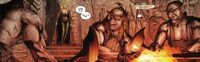 Enchanteress come for three Dwarves Earth-616