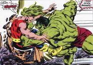 Sanson battles Hulk